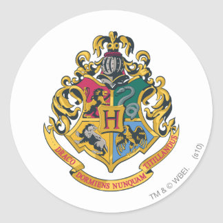 Hogwarts Crest Full Color Round Sticker