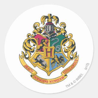 Hogwarts Crest Full Colour Round Sticker