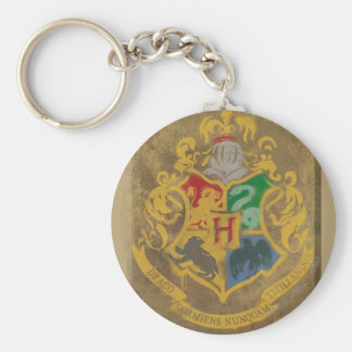 Hogwarts Crest HPE6 Basic Round Button Key Ring