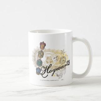 Hogwarts Logo and Professors 2 Basic White Mug