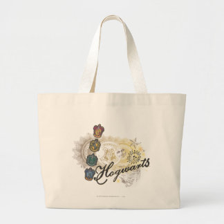Hogwarts Logo and Professors 2 Jumbo Tote Bag