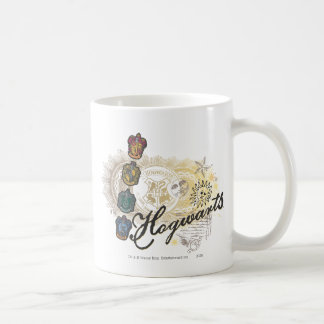 Hogwarts Logo and Professors 2 Classic White Coffee Mug