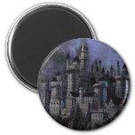 Hogwarts Magnificent Castle 6 Cm Round Magnet
