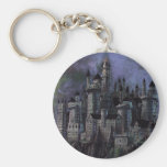 Hogwarts Magnificent Castle Basic Round Button Key Ring