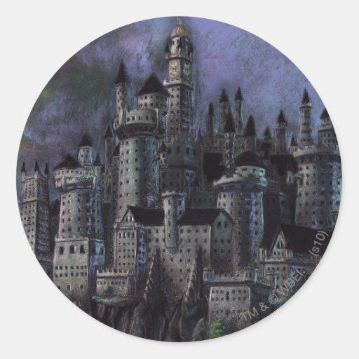 Hogwarts Magnificent Castle Round Sticker