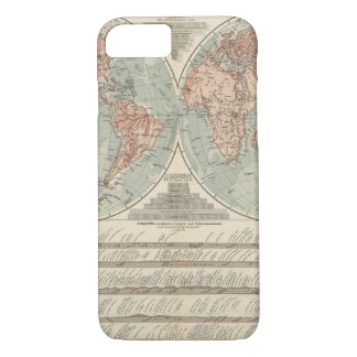 Hohen und Tiefen - Highs and Lows Atlas Map iPhone 7 Case