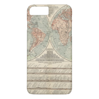 Hohen und Tiefen - Highs and Lows Atlas Map iPhone 7 Plus Case