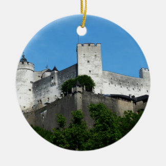 Hohensalzburg Fortress, Austria Round Ceramic Decoration