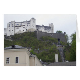 Hohensalzburg Fortress Salzburg Austria Card