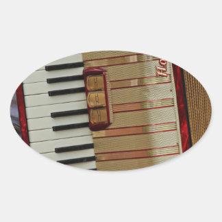 Hohner Accordion Oval Sticker