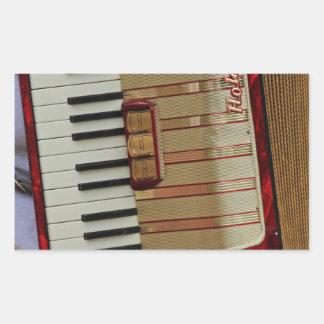 Hohner Accordion Rectangular Sticker