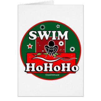 HoHoHo Christmas Swim Card