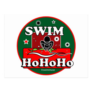 HoHoHo Christmas Swim Postcard