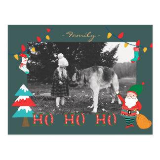 Hohoho Christmat postcard