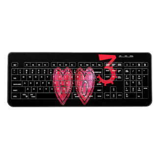 Hohoho Happy Holidays Merry Christmas with  Love Wireless Keyboard