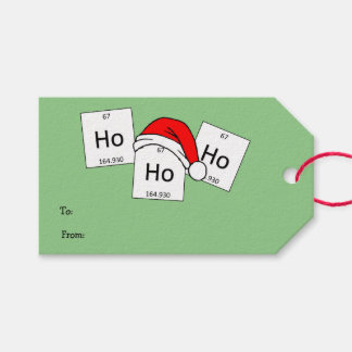 HoHoHo Holmium Chemistry Element Christmas Pun Gift Tags
