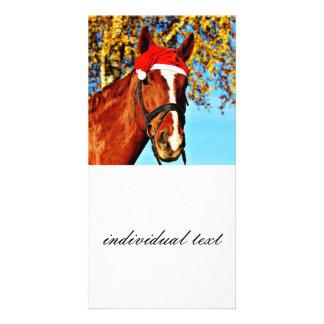 hohoho Horse 2 Photo Card Template