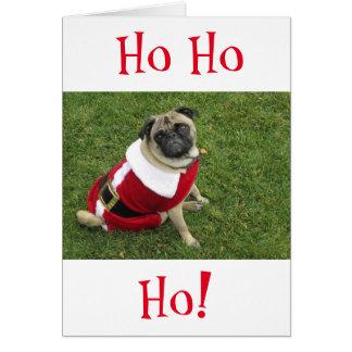 HoHoHo Pug Christmas Card