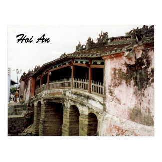 hoi an bridge postcard