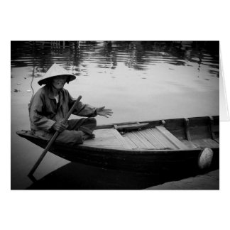 Hoi An Small Boat Stationery Note Card