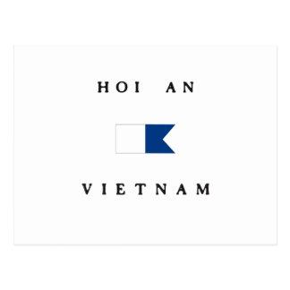 Hoi An Vietnam Alpha Dive Flag Post Card