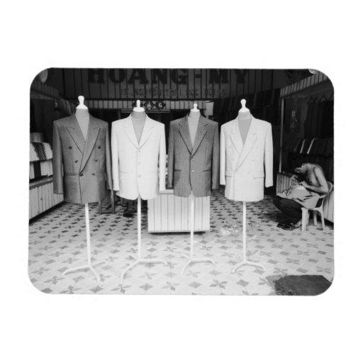 Hoi An Vietnam, Custom Suits to go Rectangular Magnets