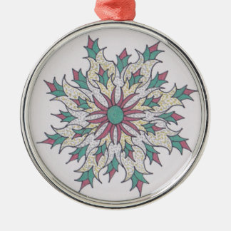 Hoilday Joy 6 Silver-Colored Round Decoration