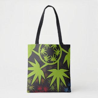 Hoja colores arcoiris vectorial de planta.Plant. Tote Bag