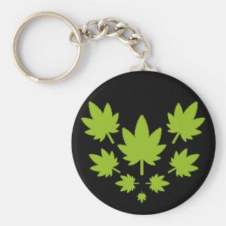 Hoja verde vectorial de planta. Vector plant. Basic Round Button Key Ring