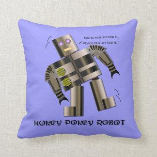 Hokey Pokey Robot Throw Pillow