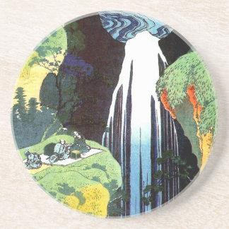 Hokusai Amida Waterfall Fine Art Drink Coasters
