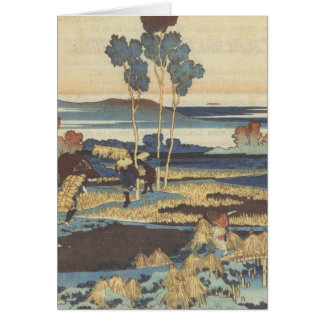Hokusai Art painting Landscape Greeting Card