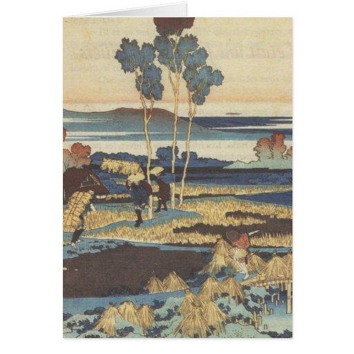 Hokusai Art painting Landscape Cards