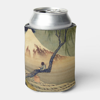 Hokusai Boy Viewing Mount Fuji Japanese Vintage Can Cooler