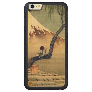 Hokusai Boy Viewing Mount Fuji Japanese Vintage Carved® Maple iPhone 6 Plus Bumper Case