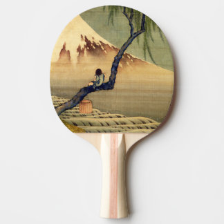 Hokusai Boy Viewing Mount Fuji Japanese Vintage Ping Pong Paddle