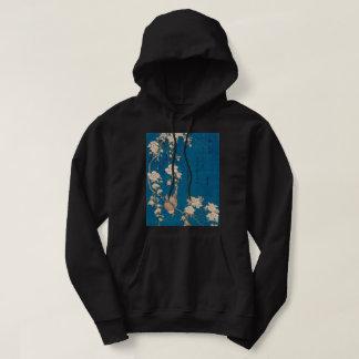 Hokusai Bullfinch and Weeping Cherry GalleryHD Art Hoodie