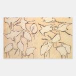 Hokusai Cranes Stickers