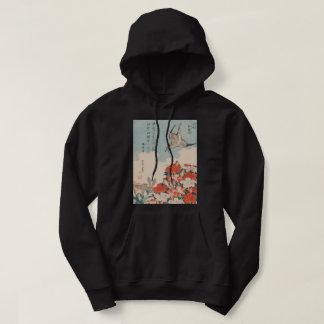 Hokusai Cuckoo and Azaleas GalleryHD Vintage Art Hoodie