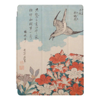 Hokusai Cuckoo and Azaleas Vintage GalleryHD Art iPad Pro Cover