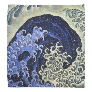 Hokusai Feminine Wave Japanese Vintage Fine Art Bandana