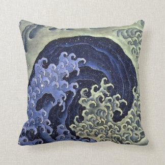 Hokusai Feminine Wave Throw Pillow