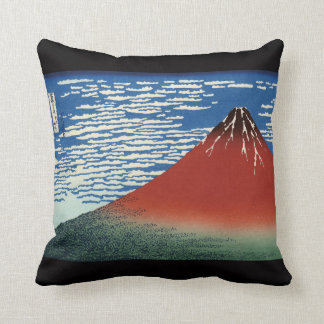 "HOKUSAI, ""Fine Wind and Clear Morning"" Throw Pillow"
