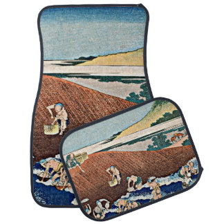 Hokusai - Fishing in the River Kinu Car Mat