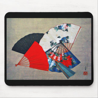 "Hokusai ""Five Fans "" Mouse Pad"