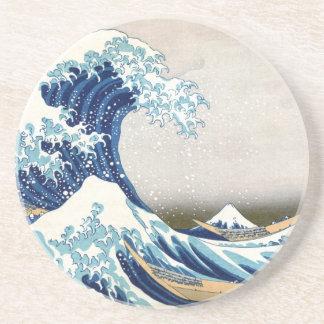 Hokusai Great Wave Fine Art Drink Coasters