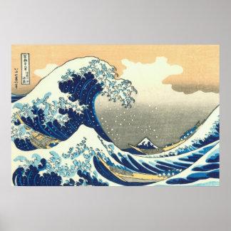 Hokusai great wave poster