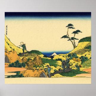 Hokusai great wave print painting