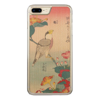 Hokusai Hawfinch and Marvel-of-Peru GalleryHD Art Carved iPhone 8 Plus/7 Plus Case