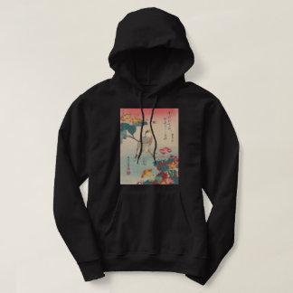 Hokusai Hawfinch and Marvel-of-Peru GalleryHD Art Hoodie